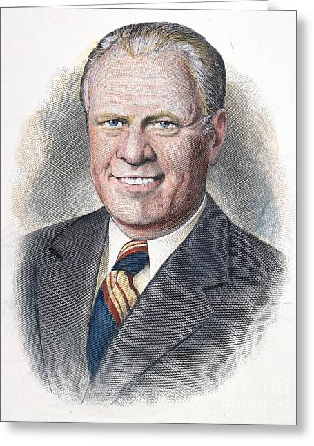 Gerald Ford (1913-2006) Greeting Card by Granger