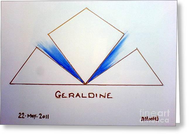 Geraldine Greeting Card