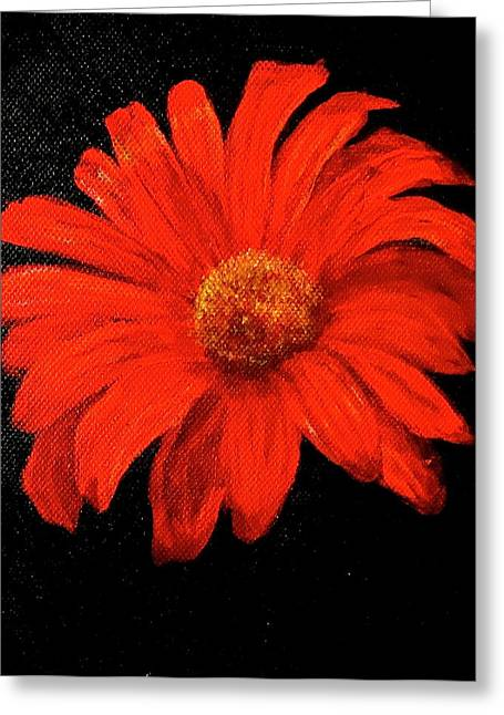 Gerbera Greeting Card by Heather Matthews