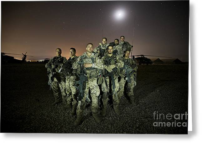 German Army Crew Poses Greeting Card by Terry Moore