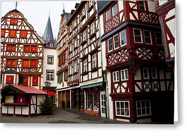 Greeting Card featuring the photograph German Market One by Rick Bragan