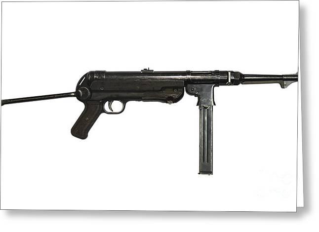 German Mp-40 Submachine Gun Greeting Card