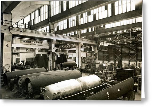 German Rocket Factory, 1943 Greeting Card