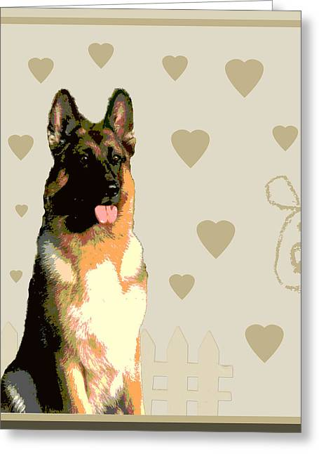 German Shepherd Greeting Card by One Rude Dawg Orcutt