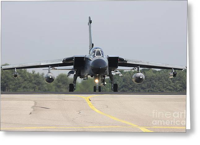 German Tornado Ecr On The Runway Greeting Card by Timm Ziegenthaler
