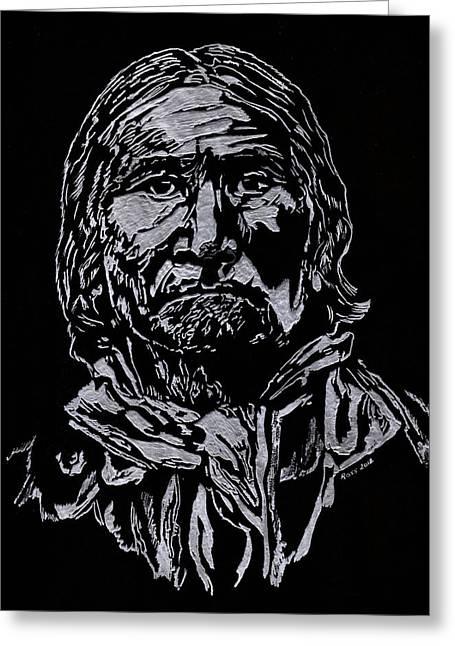 Geronimo Greeting Card by Jim Ross