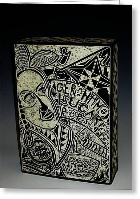 Geronimo Sugar Pops Greeting Card by Ken McCollum
