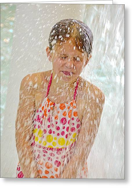 Getting Splashed Greeting Card by Maria Dryfhout