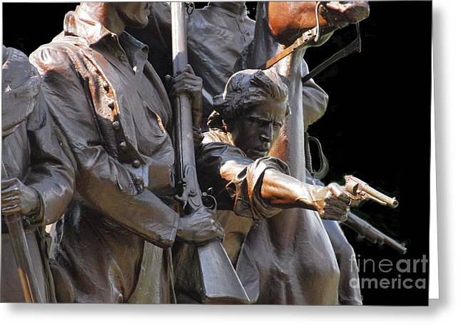 Greeting Card featuring the photograph Gettysburg Monument by Cindy Manero