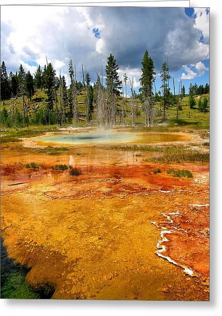 Geyser Pool At Yellowstone Greeting Card