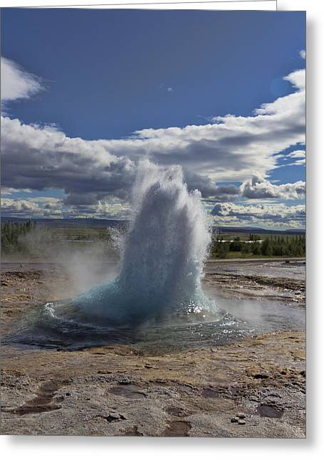 Greeting Card featuring the photograph Geysir 2 by David Gleeson
