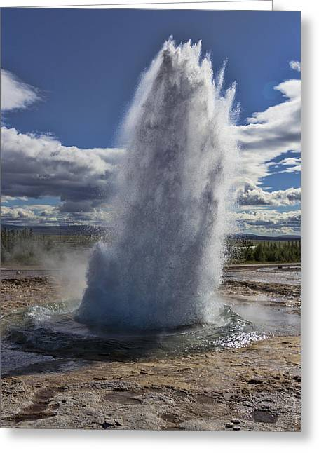 Greeting Card featuring the photograph Geysir 3 by David Gleeson
