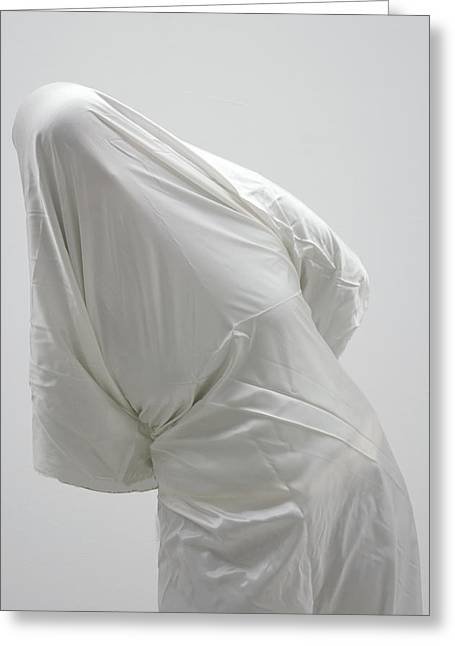 Ghost - Person Covered With White Cloth Greeting Card by Matthias Hauser