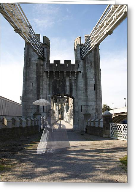 Ghost Bridge Greeting Card by Christopher Rowlands