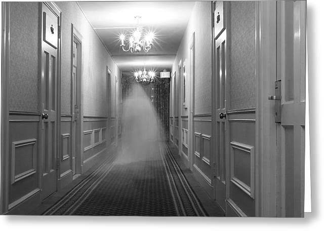 Ghost In The Hall At The Hawthorne Greeting Card