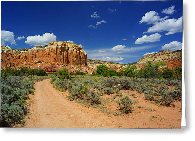 Ghost Ranch Box Canyon Trail Vista   Greeting Card