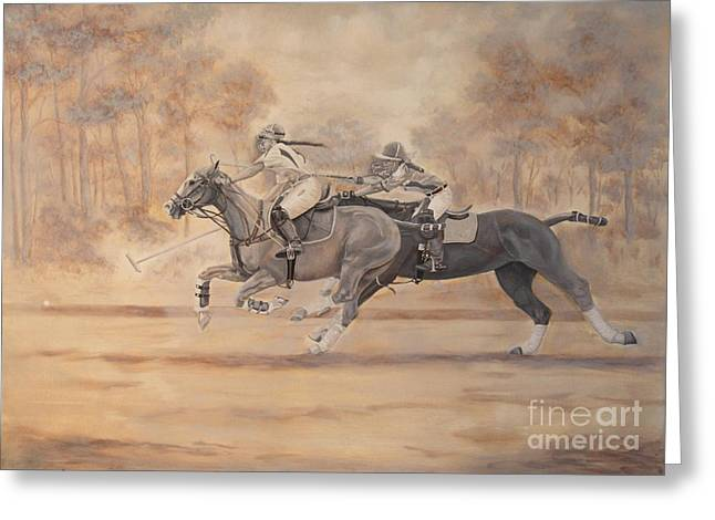 Ghost Riders Greeting Card by Roena King