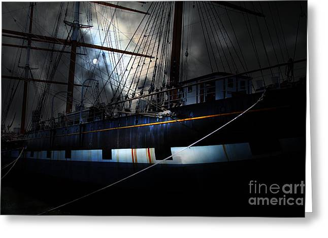 Ghost Ship Of The San Francisco Bay . 7d14153 Greeting Card by Wingsdomain Art and Photography