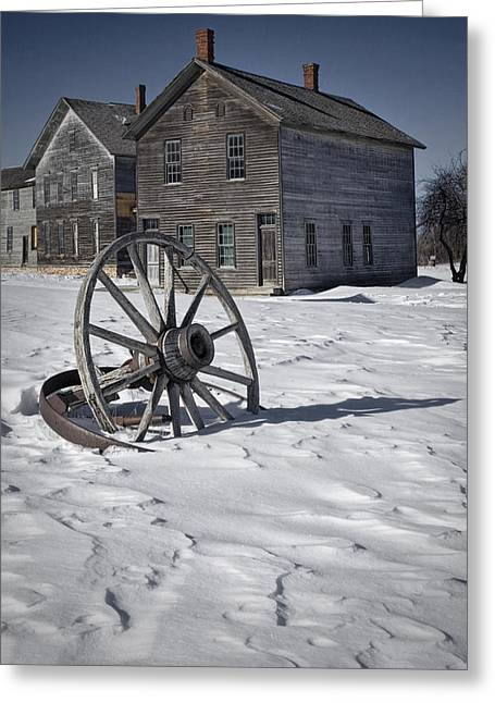 Ghost Town At Fayette Greeting Card by Randall Nyhof
