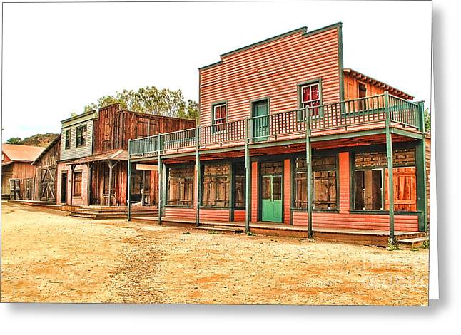Ghost Town In The Mountain Greeting Card by Jason Abando
