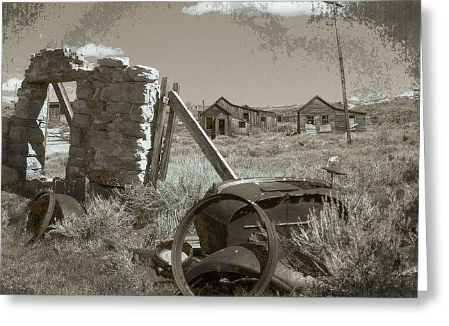 Ghost Town Series 3 Greeting Card by Philip Tolok
