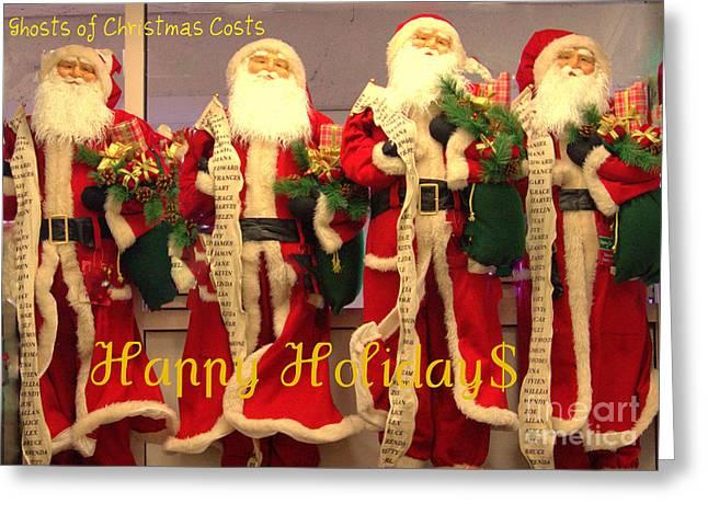 Ghosts Of Christmas Costs Greeting Card Greeting Card by Joe Jake Pratt
