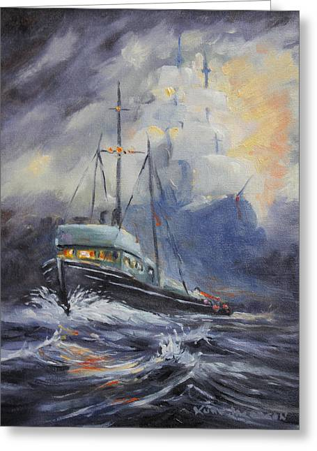 Ghosts Of The Seas Greeting Card