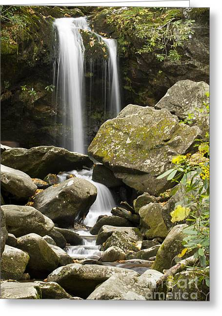 Ghrotto Falls In Great Smokie Mountain National Park Greeting Card