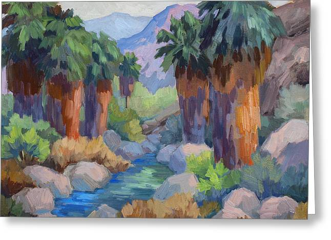 Giants At Indian Canyon Greeting Card by Diane McClary