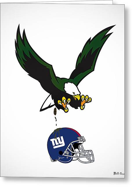 Giants Suck Greeting Card by Bill Cannon