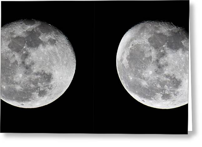 Gibbous Moon Greeting Card by Betsy Knapp