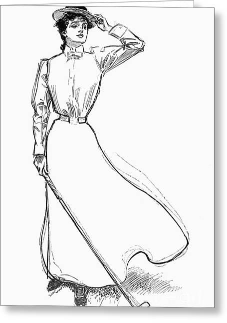 Gibson Girl, 1899 Greeting Card by Granger