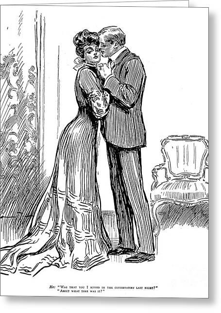 Gibson: Kiss, 1903 Greeting Card