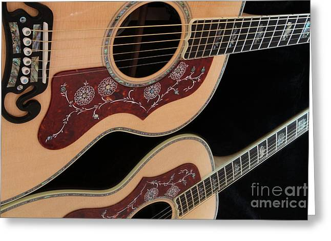 Gibson Sj200 Greeting Card by Edward R Wisell