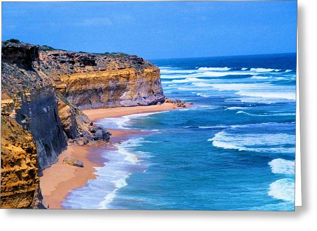 Greeting Card featuring the photograph Gibson's Beach In Australia by Dennis Lundell