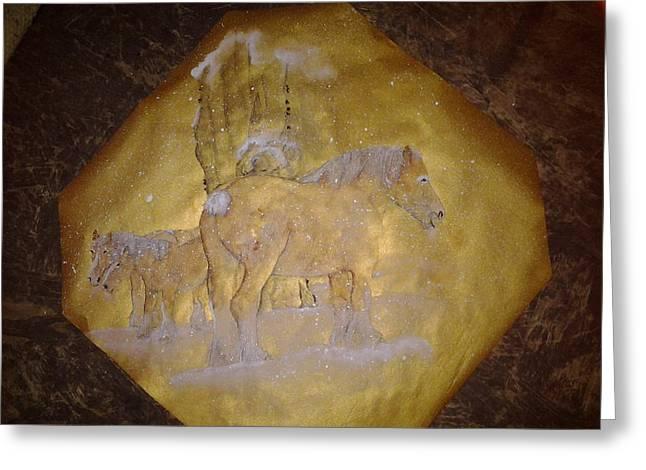 gilded Brabant Greeting Card by Debbi Saccomanno Chan