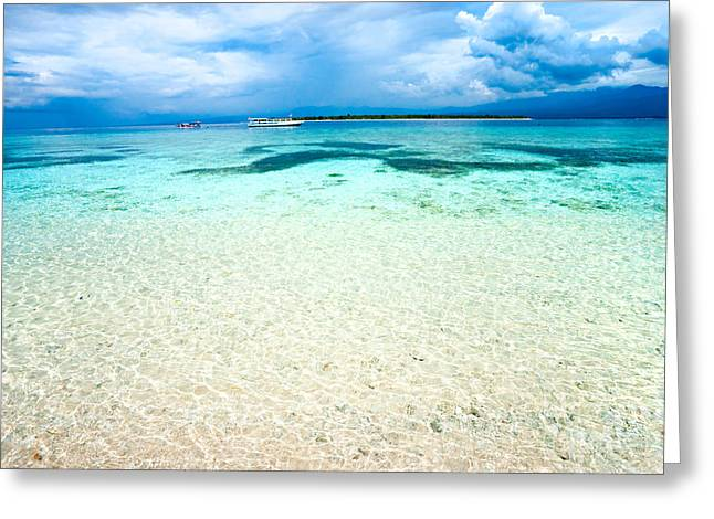 Greeting Card featuring the photograph Gili Meno - Indonesia. by Luciano Mortula