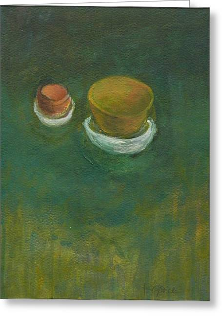 Greeting Card featuring the painting Ginger Pot by Kathleen Grace