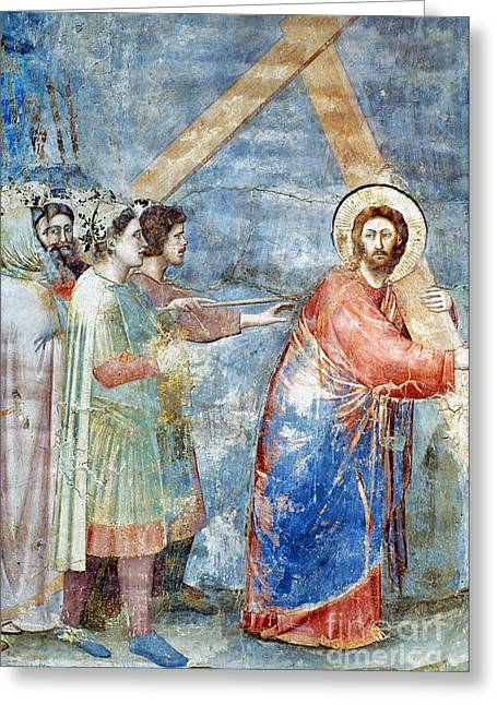 Giotto: Road To Calvary Greeting Card by Granger