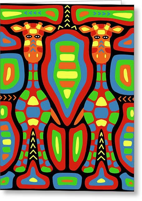 Giraffe Mola Greeting Card