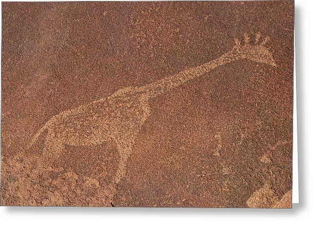 Giraffe Petroglyph Namibia Greeting Card