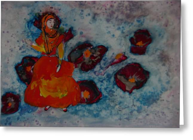 Girl From Shiraz Greeting Card