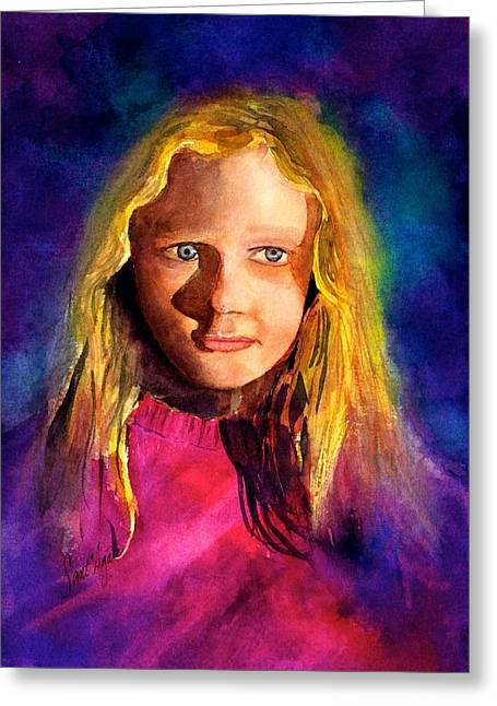 Girl On The Cover Greeting Card