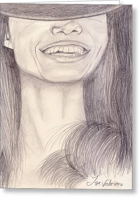 Girl Smiling Greeting Card