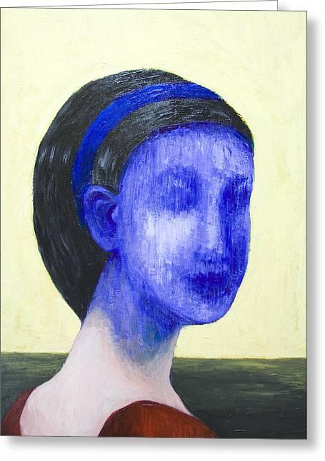 Girl With No Face Greeting Card by Kazuya Akimoto
