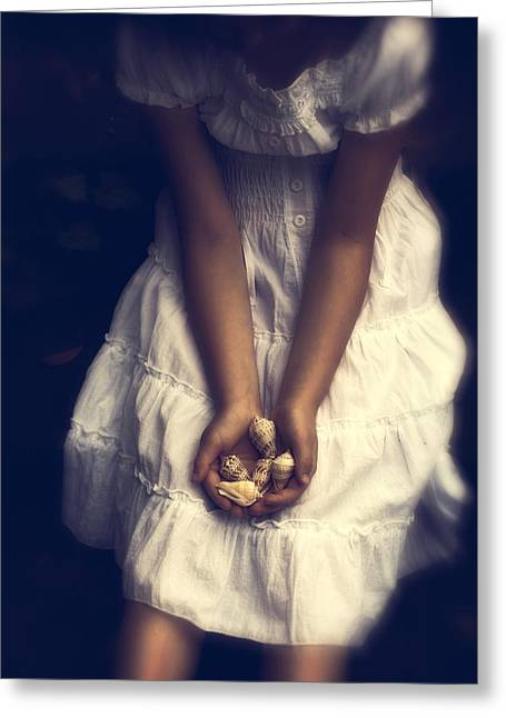 Girl With Sea Shells Greeting Card by Joana Kruse