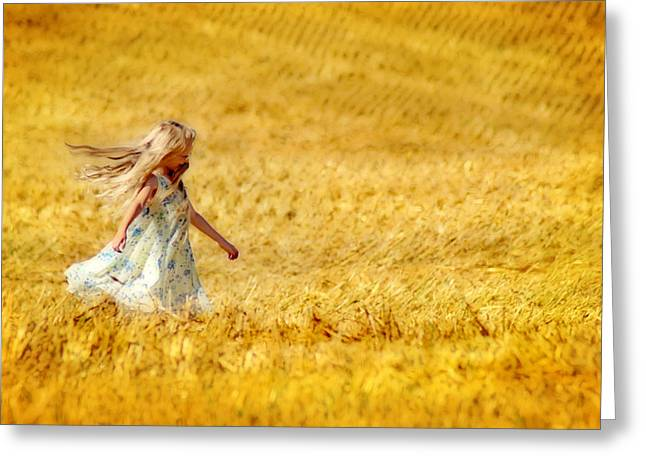 Girl With The Golden Locks Greeting Card