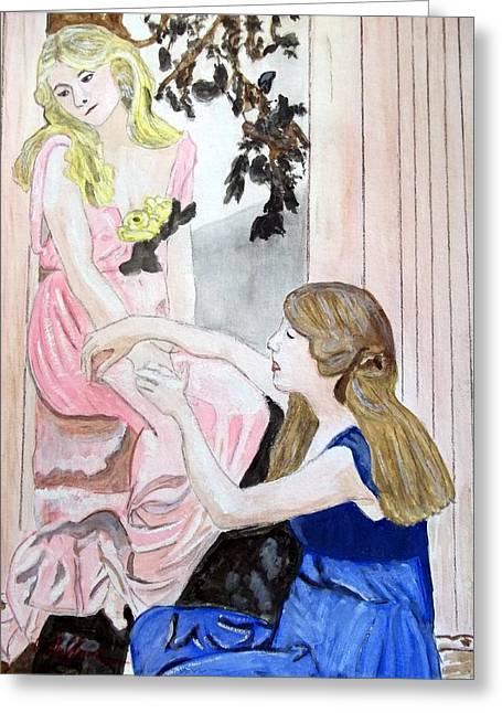 Girlfriend's Number One Greeting Card by Cathy Jourdan
