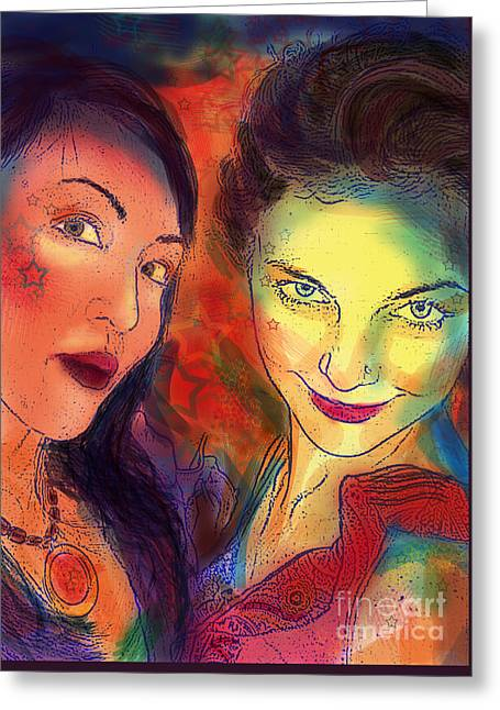 Greeting Card featuring the digital art Ladies Night by Angelique Bowman