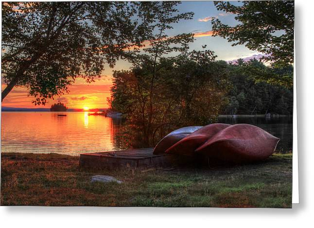 Give Me A Canoe Greeting Card by Lori Deiter